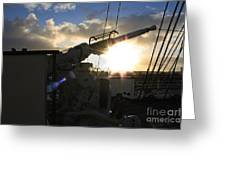 Sunset Over Long Beach Greeting Card