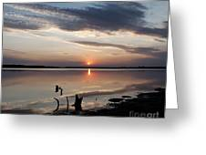 Sunset Over Lovewell Lake Greeting Card