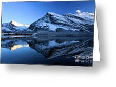 Sunset Over Many Glacier Lodge Greeting Card