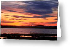 Sunset Over Marshes Parker River National Wildlife Refuge Greeting Card