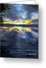 Sunset Over Mystic Lakes Greeting Card
