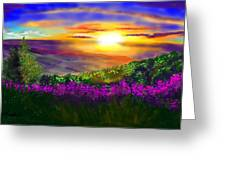 Sunset Over Rosedale Greeting Card