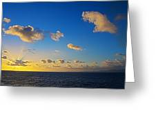 Sunset Over The Caribbean Sea Greeting Card