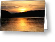 Sunset Over The Connecticut River Greeting Card