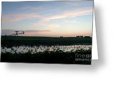 Sunset Over The Fields Greeting Card