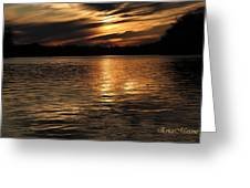 Sunset Over The Lake - 3rd Place Win Greeting Card