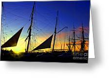 Sunset Over The Star Of India Greeting Card