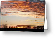 Sunset Over The Tree Line Greeting Card