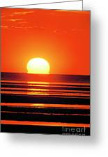 Sunset Over Tidal Flats Greeting Card