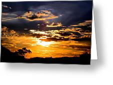 Sunset Over Topanga Greeting Card by Catherine Natalia  Roche