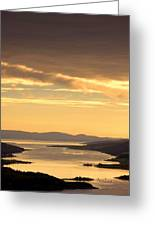 Sunset Over Water, Argyll And Bute Greeting Card