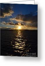 Sunset Over Winnepesaukee Greeting Card