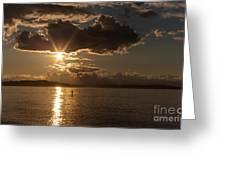 Sunset Paddleboarder Greeting Card