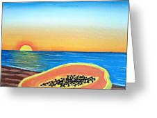 Sunset Payaya Greeting Card