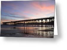 Sunset Pier San Simeon California 1 Greeting Card