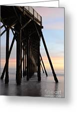 Sunset Pier California 3 Greeting Card
