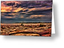 Sunset Rocks Greeting Card