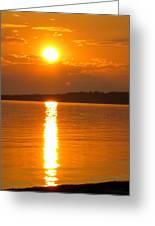 sunset Samsoe island Denmark Greeting Card