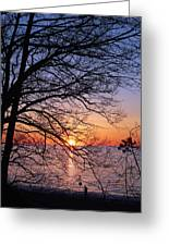 Sunset Silhouette 1 Greeting Card