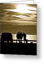 Sunset Silhouette Greeting Card by Vicki Jauron