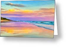 Sunset South Of Todos Santos Greeting Card