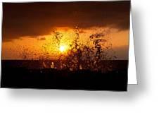 Sunset Splash 2 Greeting Card