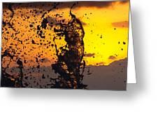 Sunset Splash 3 Greeting Card