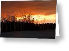 Sunset Splash 4 Greeting Card