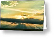 Sunset Sunbeams Greeting Card