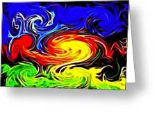 Sunset Swirl Greeting Card