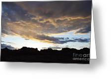Sunset Valley Of Fire Greeting Card
