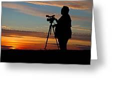Sunset Videographer Greeting Card