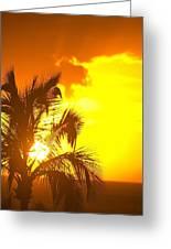 Sunset, Wailea, Maui, Hawaii, Usa Greeting Card