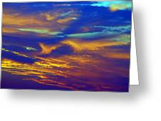 Sunset Waves Greeting Card