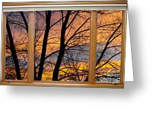 Sunset Window View Greeting Card