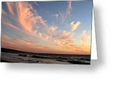 Sunset Wispy Sky Greeting Card