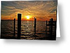 Sunset X Greeting Card