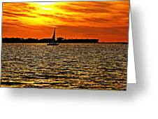 Sunset Xi Greeting Card