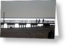 Sunsets On Coney Island Pier Greeting Card