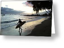 Sunset Surf Greeting Card