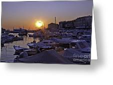 Sunsetting Over Rovinj 1 Greeting Card