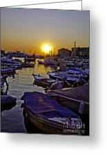 Sunsetting Over Rovinj 2 Greeting Card