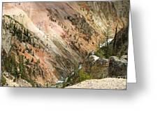 Sunshine On Grand Canyon In Yellowstone Greeting Card