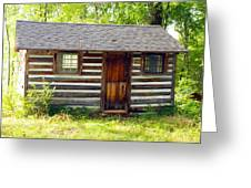 Sunshine On The Little Cabin Greeting Card