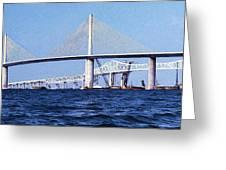 Sunshine Skyway Bridge II Greeting Card