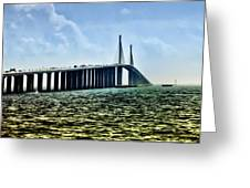 Sunshine Skyway Bridge - Tampa Bay Greeting Card