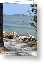 Sunshine Skyway From The Causeway Greeting Card