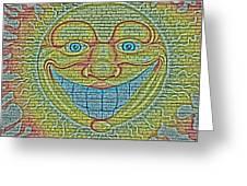 Sunshine Smile Art Greeting Card