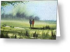 Sunshine Stroll Greeting Card