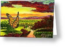 Sunshine Traveler-monarch Greeting Card